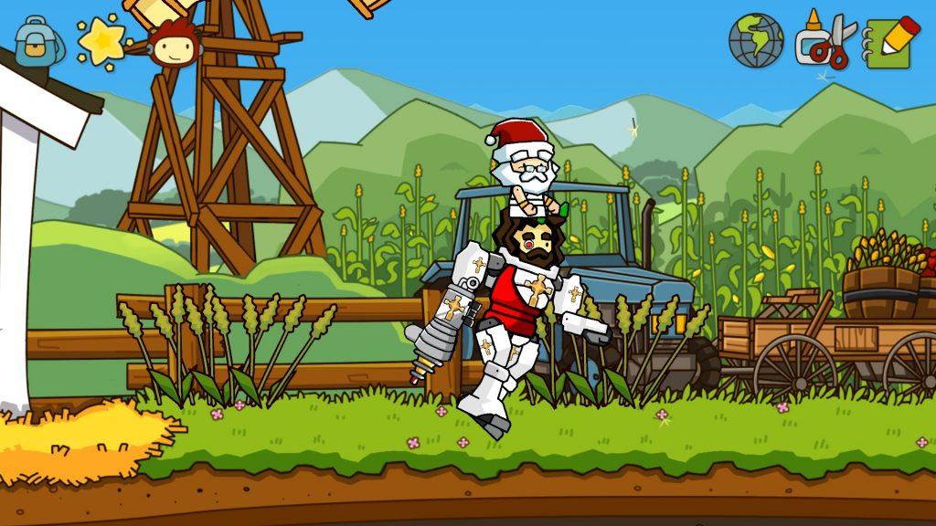 Santa Christ riding Super Mecha Death Christ. :P